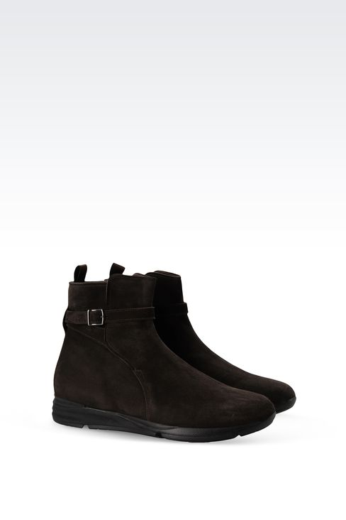SUEDE ANKLE BOOT WITH RUNNING SOLE: Ankle boots Men by Armani - 2