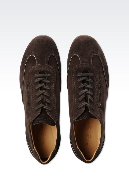 SUEDE SNEAKER WITH LOGO: Sneakers Men by Armani - 3