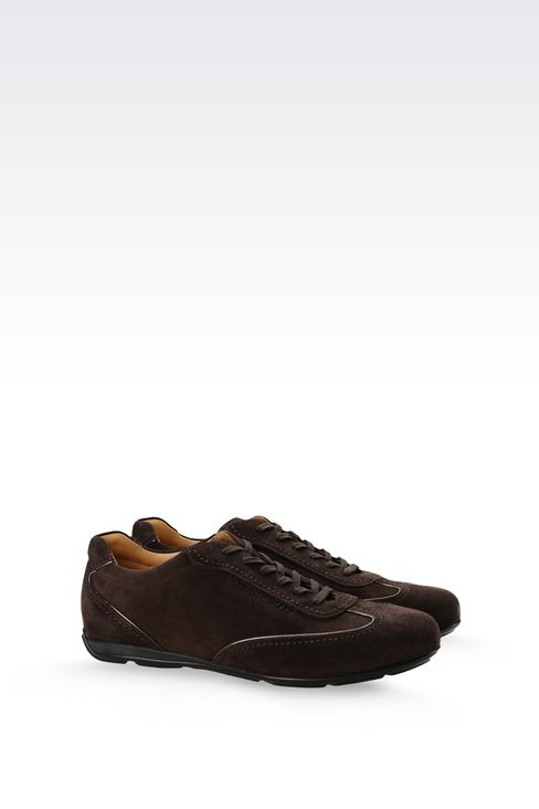 SUEDE SNEAKER WITH LOGO: Sneakers Men by Armani - 2