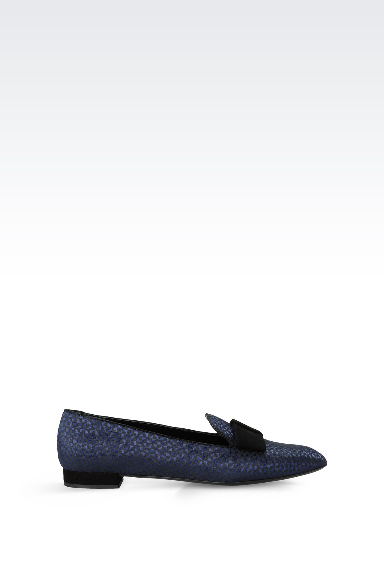 PRINTED LOAFER WITH BOW: Moccasins with heel Women by Armani - 0