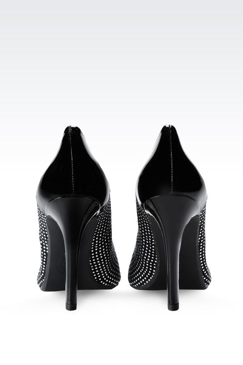 PATENT LEATHER PUMPS WITH STUDS: Closed-toe slip-ons  Women by Armani - 3