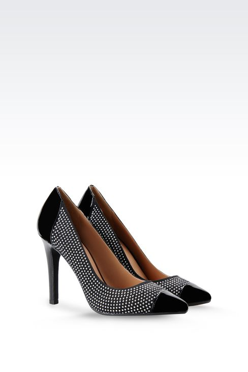 PATENT LEATHER PUMPS WITH STUDS: Closed-toe slip-ons  Women by Armani - 2