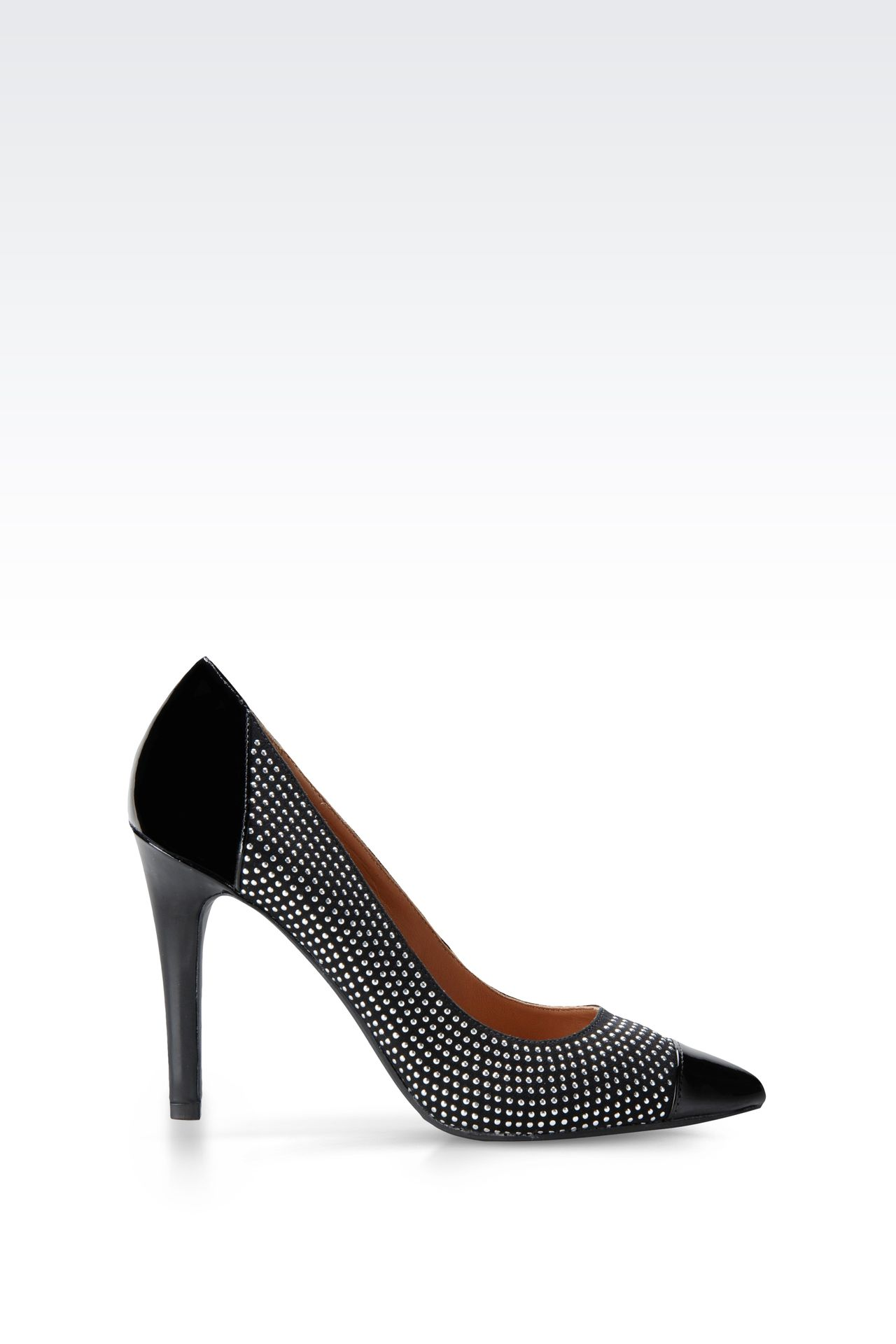 PATENT LEATHER PUMPS WITH STUDS: Closed-toe slip-ons  Women by Armani - 0