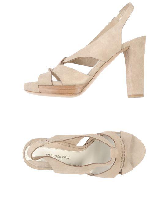Посмотреть все товары категории туфли. женские Босоножки на платформе бежевые ROBERTO DEL CARLO