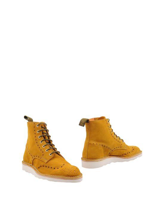 Полусапоги и высокие ботинки ESSEUTESSE. Цвет: охра