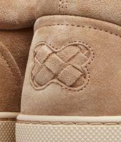Walnut Intrecciato Suede Sneaker