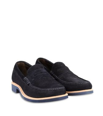 ERMENEGILDO ZEGNA: Loafers Blue - 44599120HA