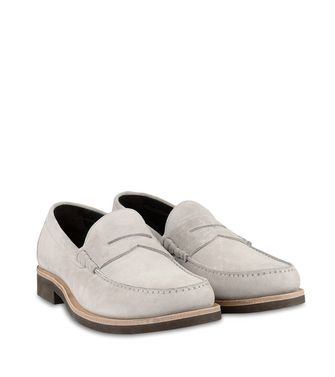 ERMENEGILDO ZEGNA: Loafers Light grey - 44599121PO
