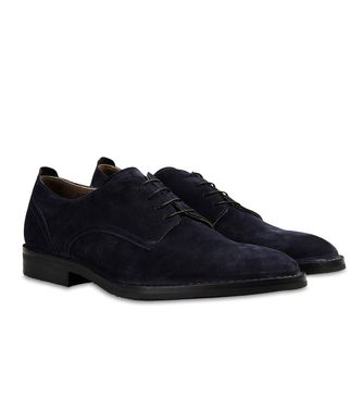 ERMENEGILDO ZEGNA: Laced shoes Blue - 44599142CX