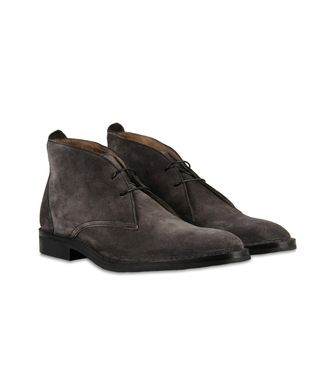 ERMENEGILDO ZEGNA: Laced Ankle Boot Blue - 44599172OV