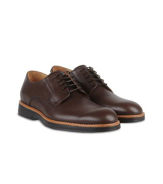 ERMENEGILDO ZEGNA: Laced shoes Dark brown - 44599214GH