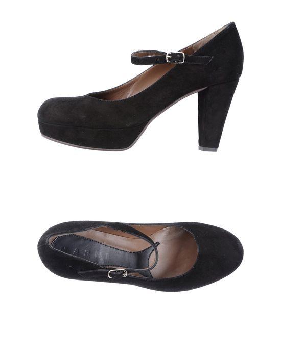 Туфли на платформе MARNI за 8600 руб, цвет черный, материал кожа. замша, одноцветное изделие, скругленный носок