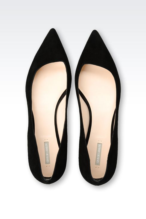 POINTED SUEDE BALLET FLAT: Ballet flats Women by Armani - 3