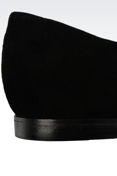 POINTED SUEDE BALLET FLAT: Ballet flats Women by Armani - 4