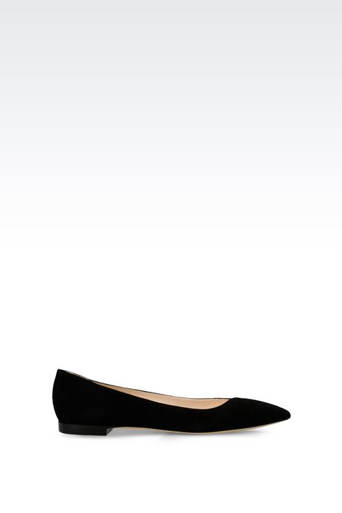 POINTED SUEDE BALLET FLAT: Ballet flats Women by Armani - 1