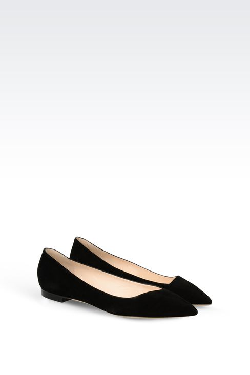 POINTED SUEDE BALLET FLAT: Ballet flats Women by Armani - 2
