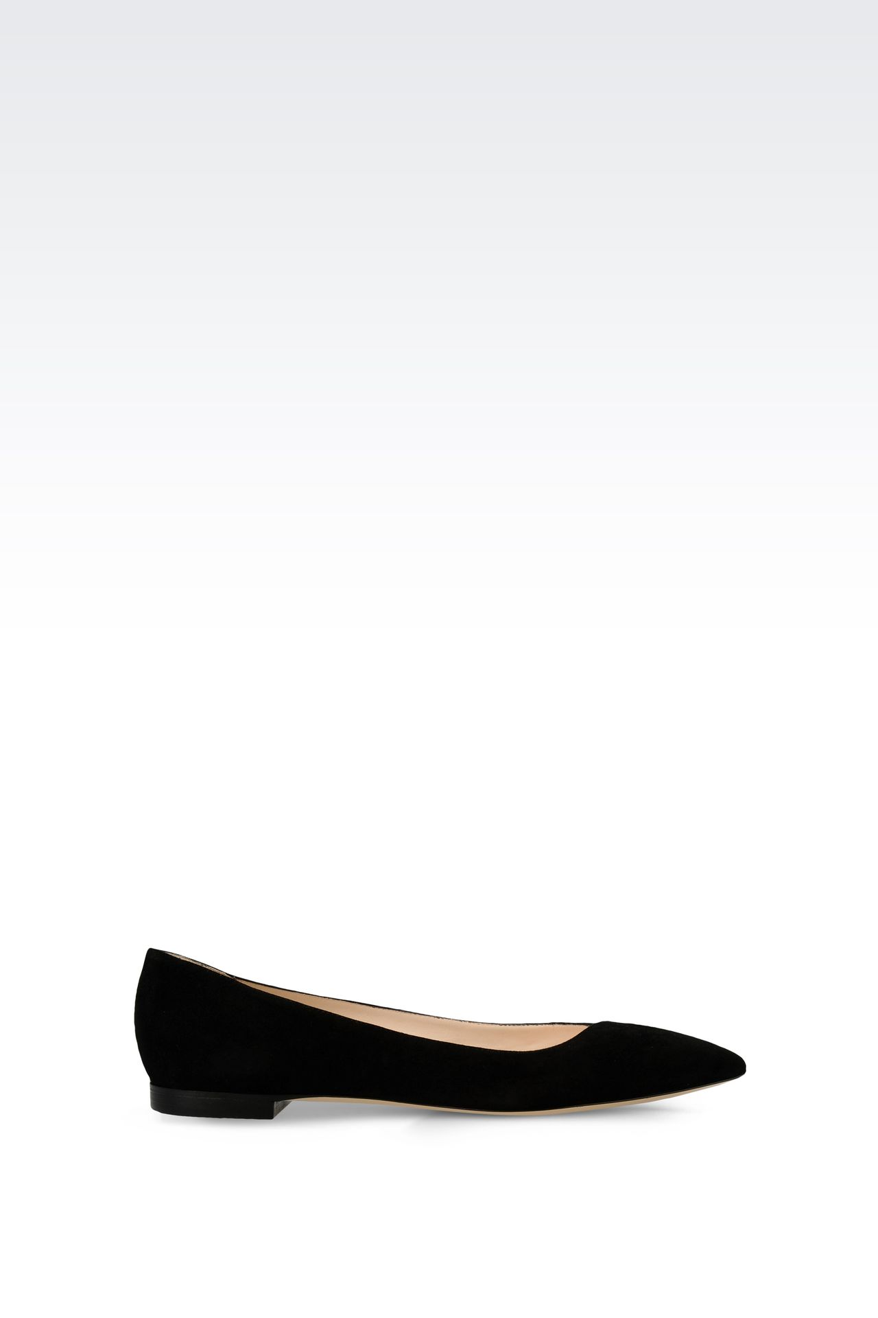 POINTED SUEDE BALLET FLAT: Ballet flats Women by Armani - 0