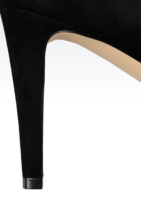 POINTED SUEDE PUMP: Pumps Women by Armani - 4