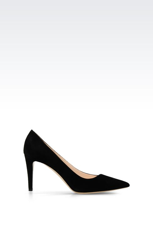 POINTED SUEDE PUMP: Pumps Women by Armani - 1