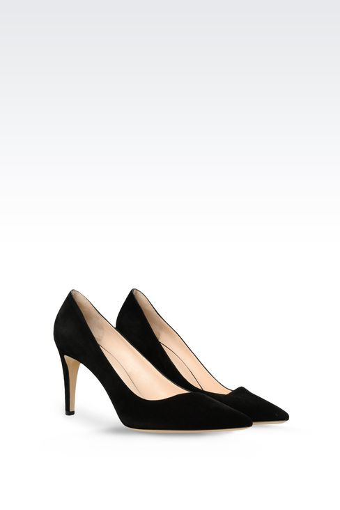 POINTED SUEDE PUMP: Pumps Women by Armani - 2