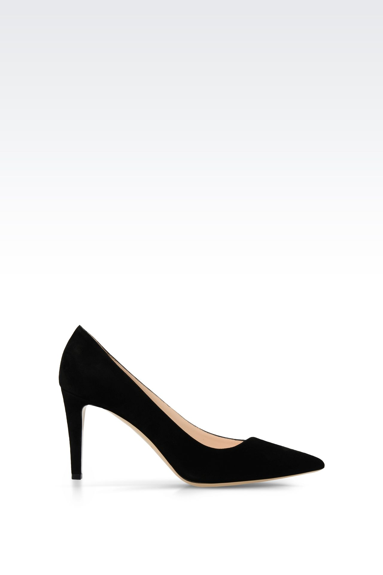POINTED SUEDE PUMP: Closed-toe slip-ons  Women by Armani - 0