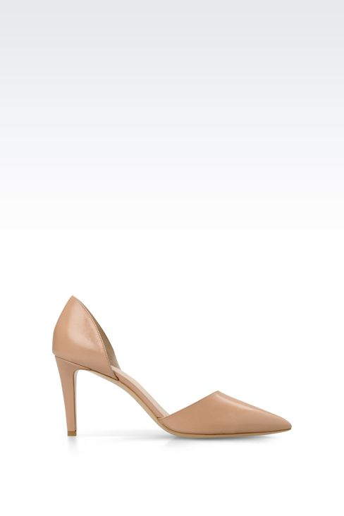 POINTED LEATHER PUMP: Closed-toe slip-ons  Women by Armani - 1
