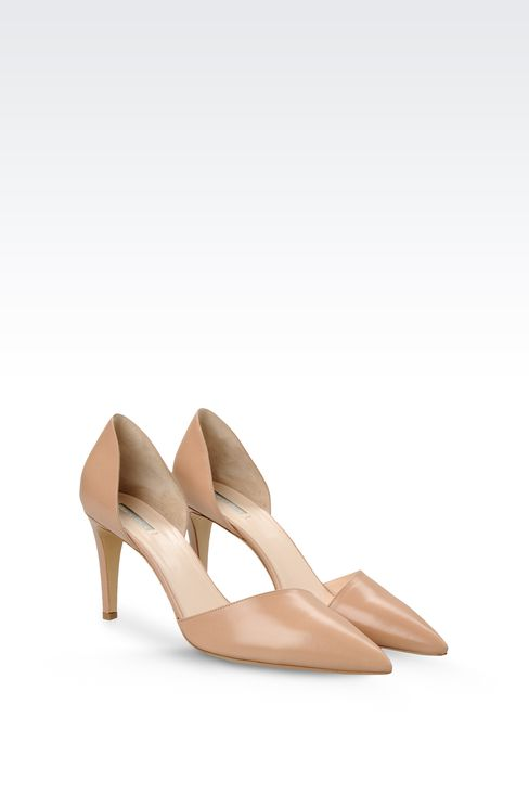 POINTED LEATHER PUMP: Closed-toe slip-ons  Women by Armani - 2