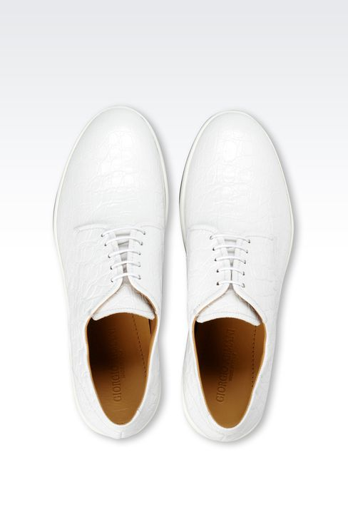DERBY IN CROC PRINT LEATHER : Lace-up shoes Men by Armani - 3