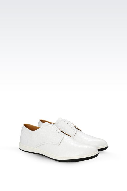 DERBY IN CROC PRINT LEATHER : Lace-up shoes Men by Armani - 2