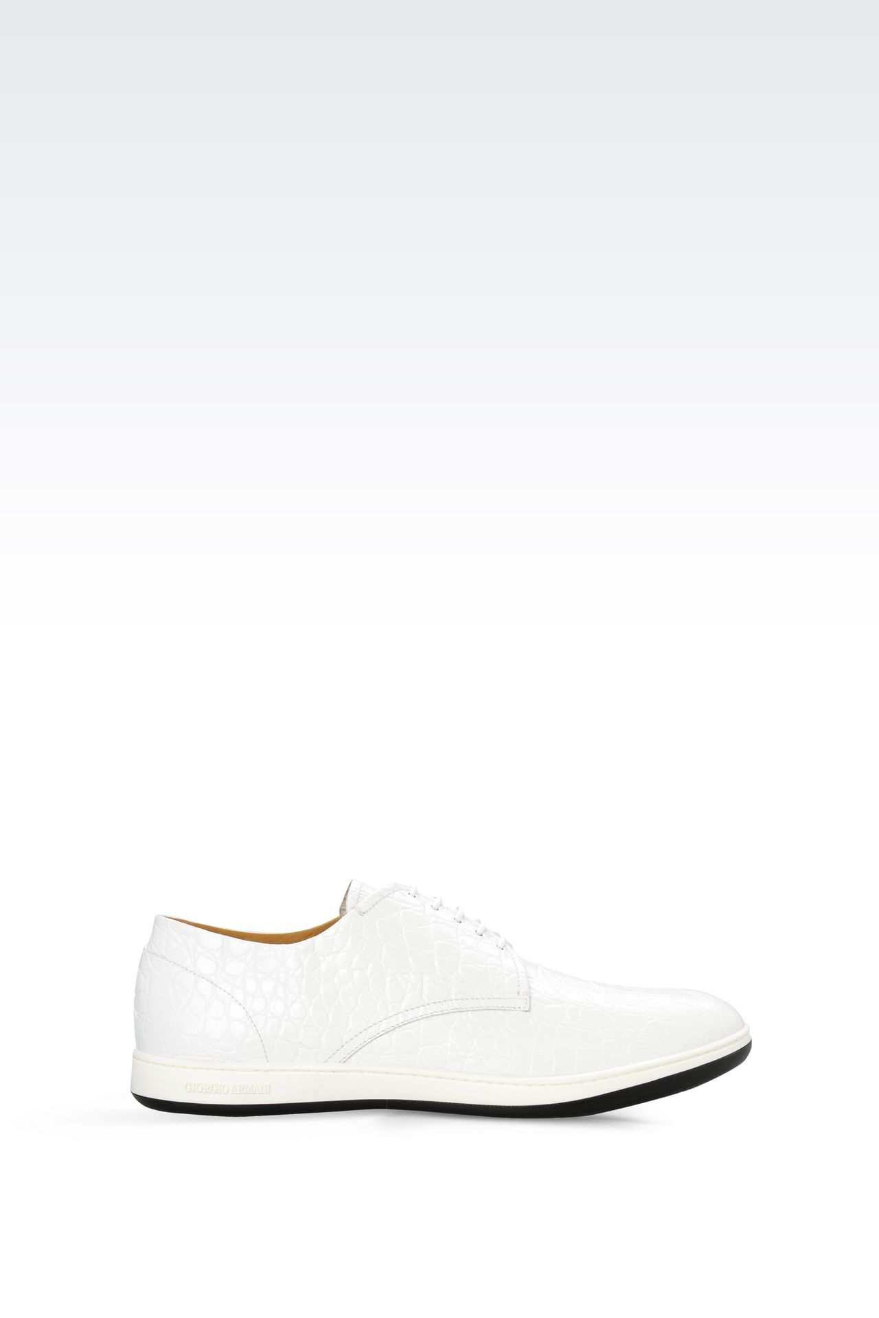 DERBY IN CROC PRINT LEATHER : Lace-up shoes Men by Armani - 0