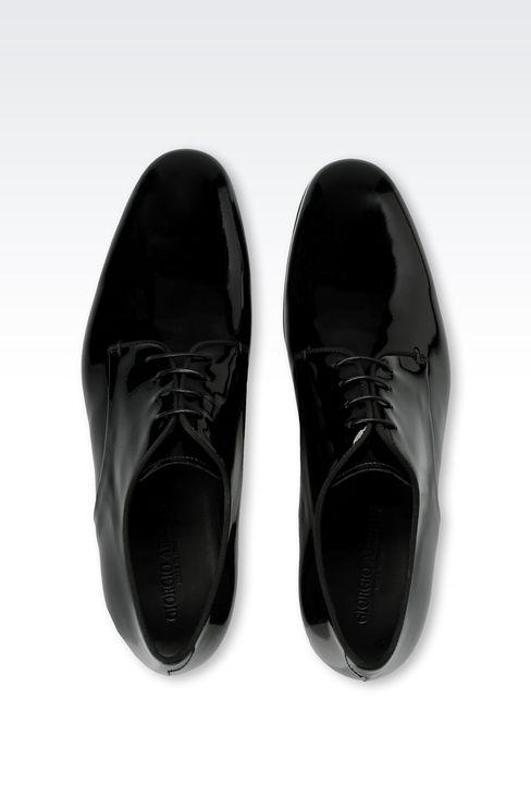 PATENT DERBY: Lace-up shoes Men by Armani - 3