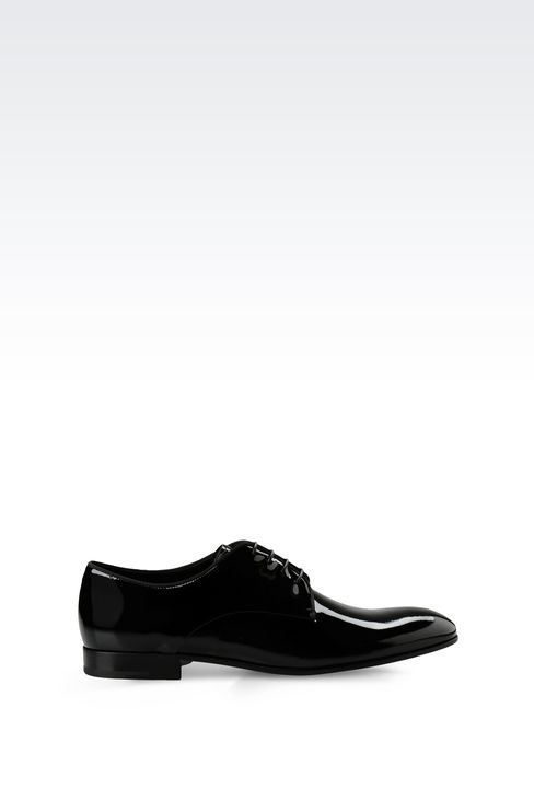 PATENT DERBY: Lace-up shoes Men by Armani - 1