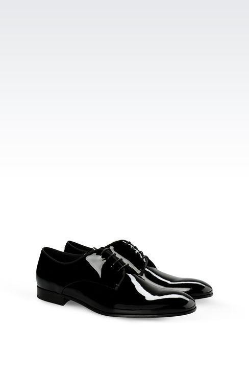 PATENT DERBY: Lace-up shoes Men by Armani - 2