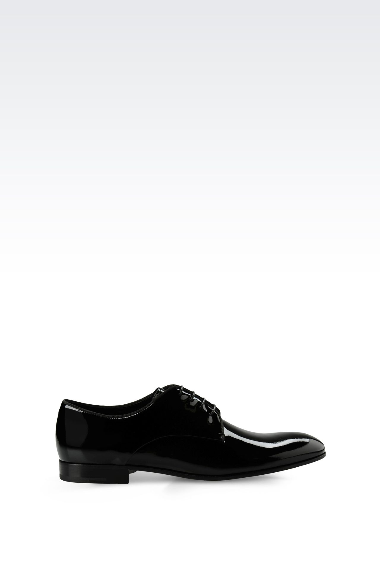PATENT DERBY: Lace-up shoes Men by Armani - 0