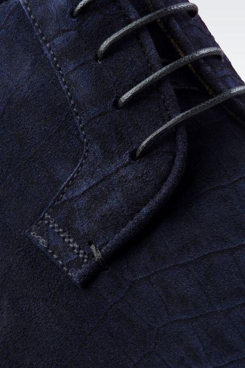 CROCODILE PRINT SUEDE DERBY: Lace-up shoes Men by Armani - 4