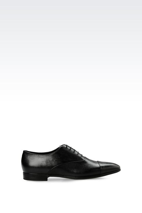 OXFORD IN LIZARD PRINT LEATHER: Lace-up shoes Men by Armani - 1
