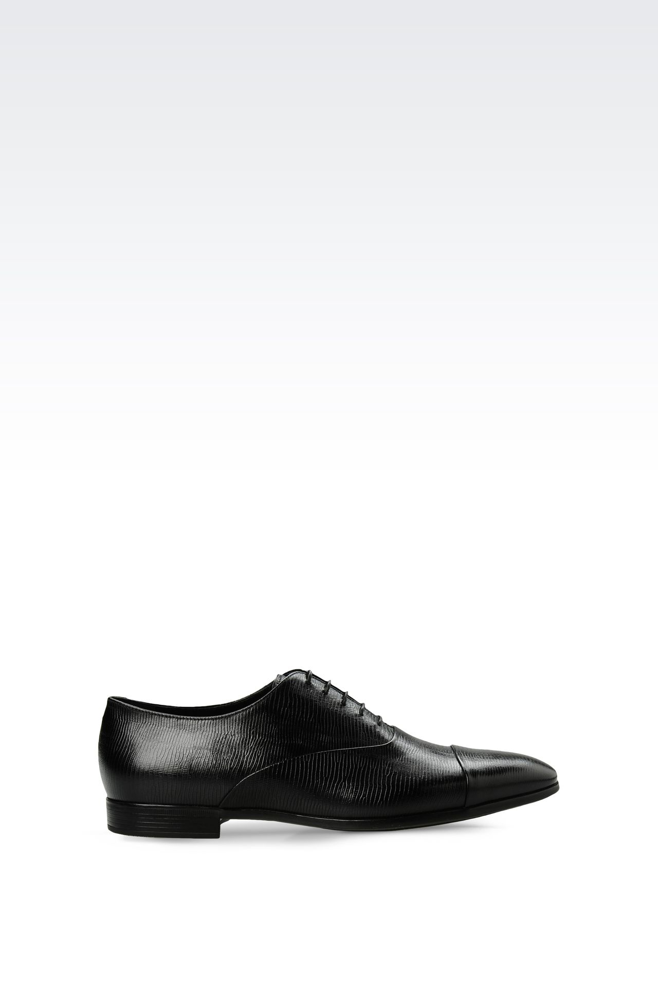 OXFORD IN LIZARD PRINT LEATHER: Lace-up shoes Men by Armani - 0