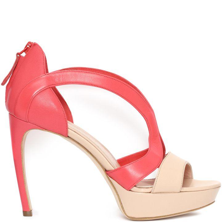 Alexander McQueen, Suede Armadillo Sandal