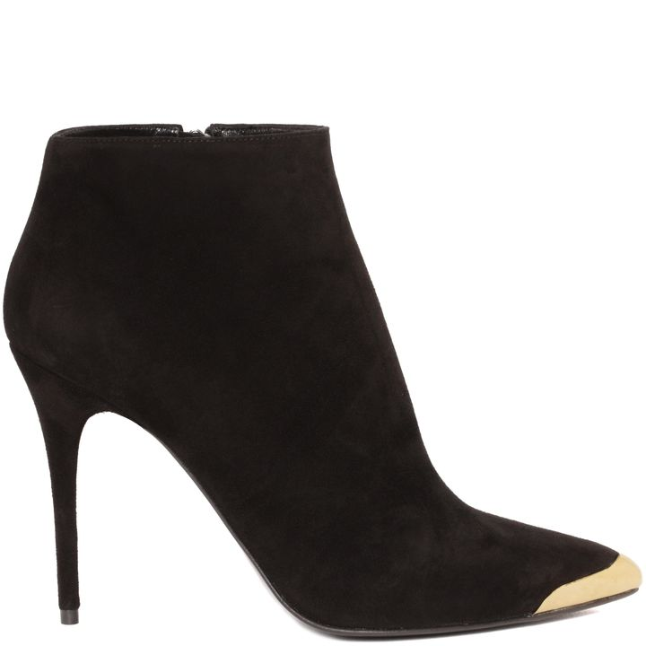 Alexander McQueen, Metal Toe-Cap Pointed Ankle Boot