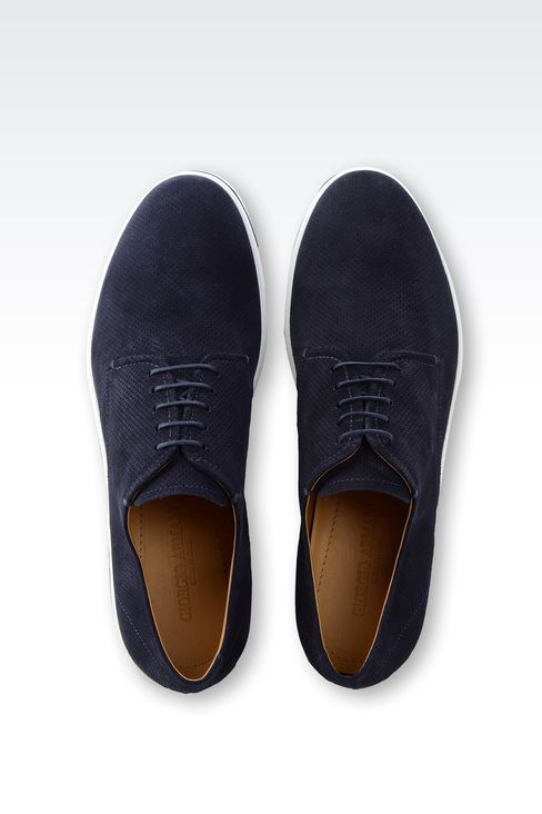 SUEDE DERBY WITH RUBBER SOLE: Lace-up shoes Men by Armani - 3