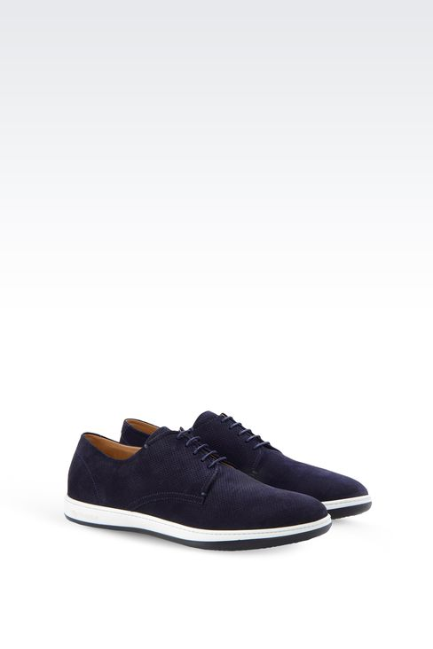 SUEDE DERBY WITH RUBBER SOLE: Lace-up shoes Men by Armani - 2