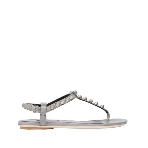 Balenciaga Giant Silver T Strap Sandals