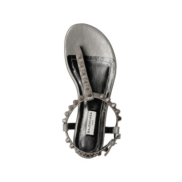Balenciaga Giant Sandales Entredoigts Plates Argent
