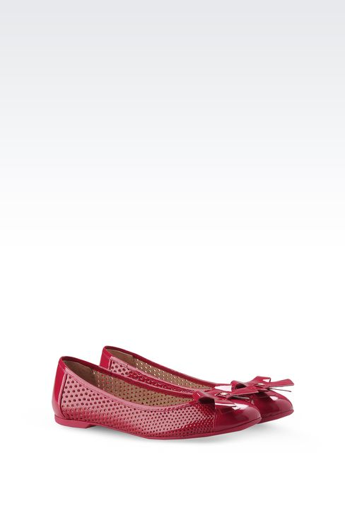 BALLET FLAT IN PERFORATED PATENT LEATHER: Ballet flats Women by Armani - 2