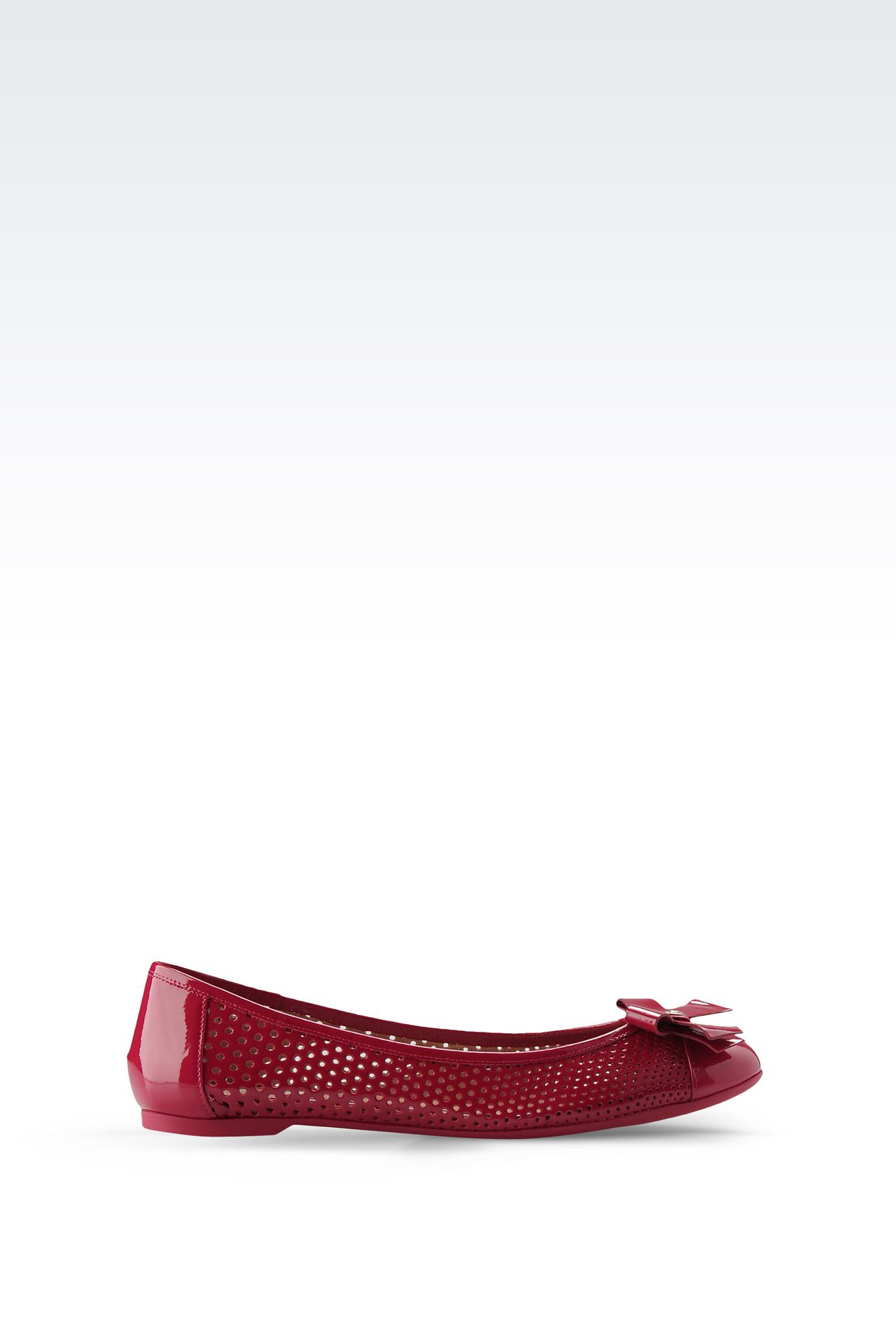 BALLET FLAT IN PERFORATED PATENT LEATHER: Ballet flats Women by Armani - 0