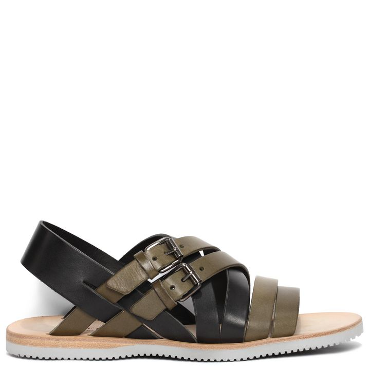 Alexander McQueen, Bi-Colour Leather Sandal