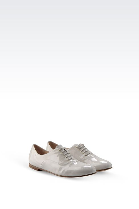 PATENT LEATHER BROGUE: Lace-up shoes Women by Armani - 2