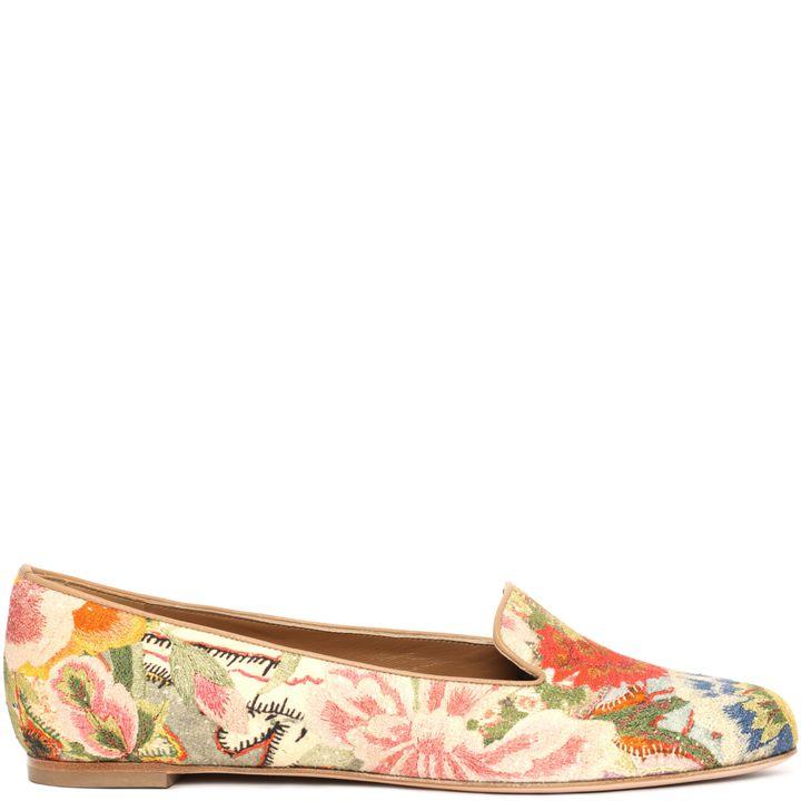 Alexander McQueen, Floral Patchwork Slipper