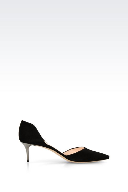 SUEDE PUMP WITH HEART-SHAPED VAMP: Pumps Women by Armani - 1