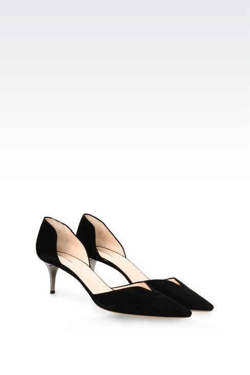 SUEDE PUMP WITH HEART-SHAPED VAMP: Pumps Women by Armani - 2